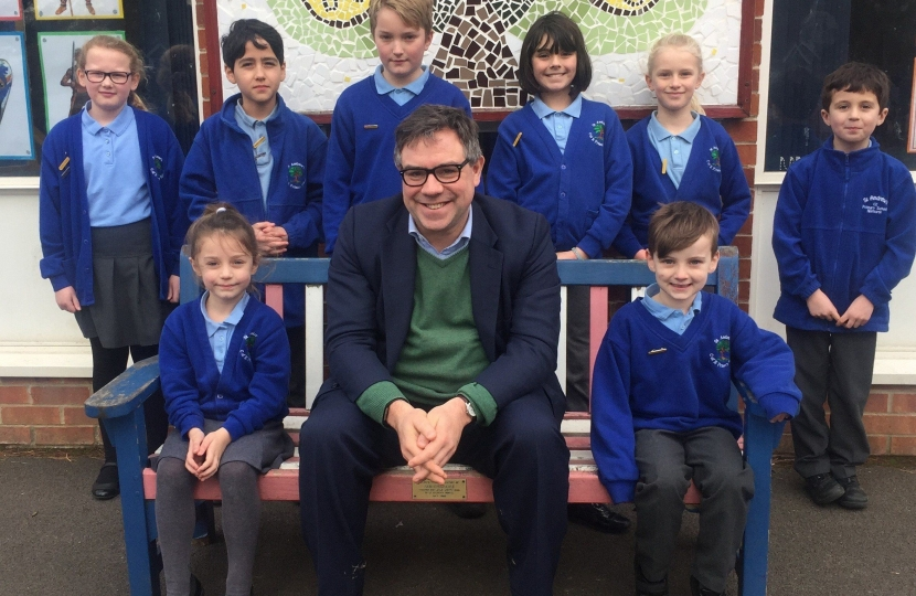 Meeting the School Council as part of my visit to  St Andrews School in Nuthurst last Friday
