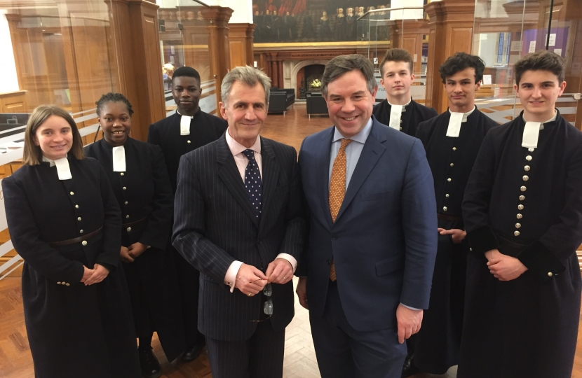 With John Franklin, the new Head of Christ's Hospital School and students for a wide ranging political discussion on politics at the school last week