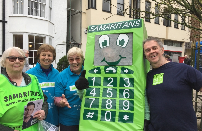 The Samaritans who do great work from their local base in Denne Road, Horsham were among many charities competing in this year's Pancake Race.