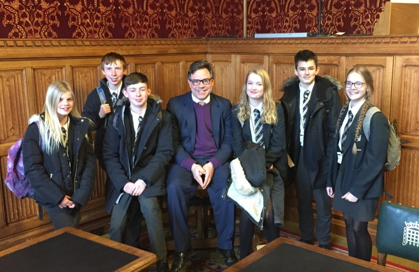 Tanbridge students in Westminster last week to present a petition to the Foreign Office and discuss the desperate situation in Yemen.