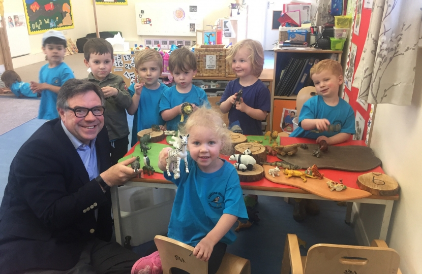 "On a recent visit to Catkins Nursury in Horsham who were celebrating their first Ofsted Report - it rated them ""Outstanding""."
