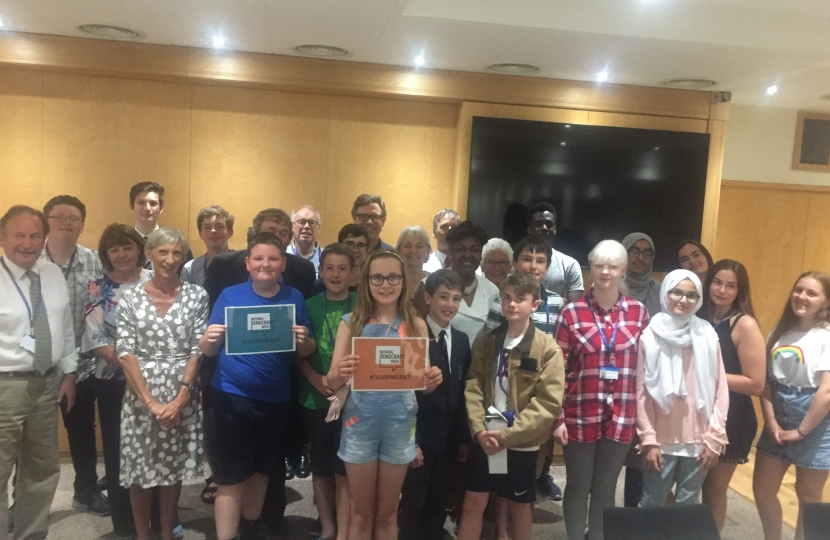 Jeremy Quin joined Louise Goldsmith and the West Sussex County Council Cabinet on Thursday evening in Horsham to meet young people from across the County to discuss issues of particular concern.  Recycling, the environment and transport were very prominent.
