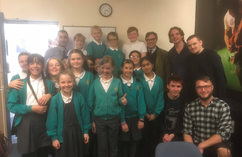 It was a pleasure to join Kingslea pupils and their Headteacher,  Mr Conway, at QM Studios in Horsham.  The students were absolutely delighted to be recording their music project.