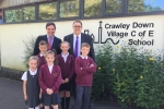 Jeremy Quin MP at Crawley Down School