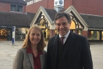 Last week I met in Horsham with the Police and Crime Commissioner Katy Bourne for discussions which focussed in particular on issues impacting young people in Horsham and the wider community.  (Photograph with Katy Bourne taken after a previous recent visit)