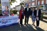 With Horsham District Age UK in the Carfax last week to discuss the future of social care.